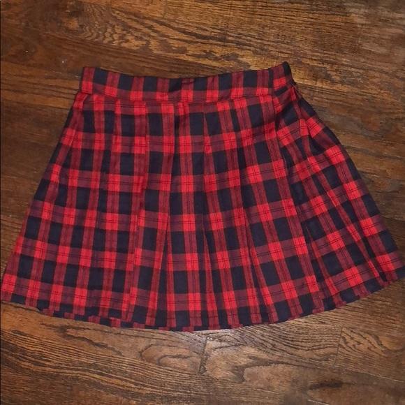 c78d48fa2 Vintage blue red mini checkered school girl skirt.  M_5bb2093dc89e1dc64a68bf70